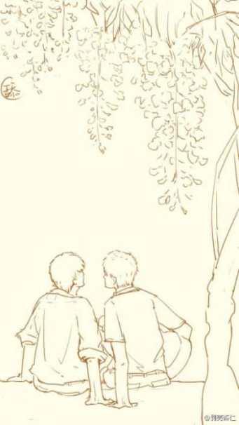 Tặng thêm tấm ảnh Dương Lỗi và Phòng Vũ dưới giàn hoa tử đằng (ảnh chôm bên nhà luckfox =))