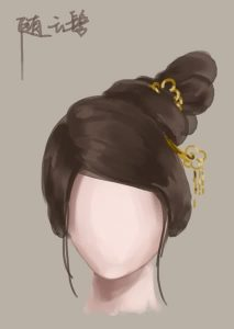 Búi tóc kiểu Lưu Vân: kiểu tóc búi lệch một bên trên đỉnh đầu.